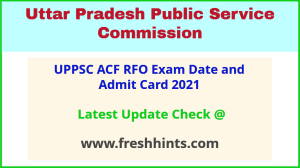 UP Forest Service Exam Admit Card 2021