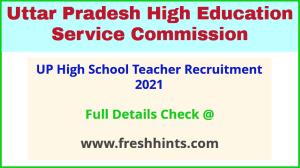 UP high school teacher recruitment 2021