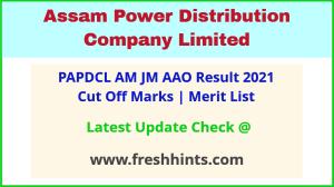 PAPDCL AM JM AAO Selection List 2021