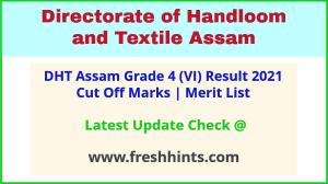 Assam Handloom and Textile Grade IV Selection List 2021