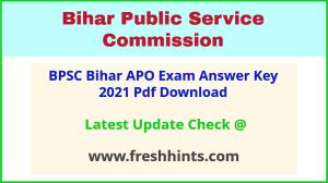 Bihar Assistant Prosecution Officer Exam Answer Sheet 2021