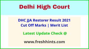 Delhi HC JJA Restorer Selection List 2021