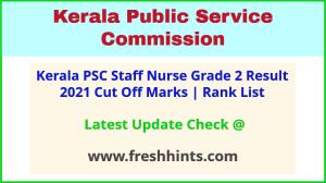Kerala Health Services Staff Nurse Selection List 2021
