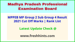 MP Vyapam Junior Assistant Auditor Selection List 2021