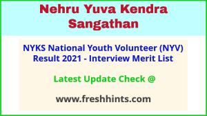 Nehru Yuva Kendra Sangathan NYV Selection List 2021