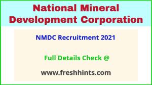 NMDC -recruitment- 2021