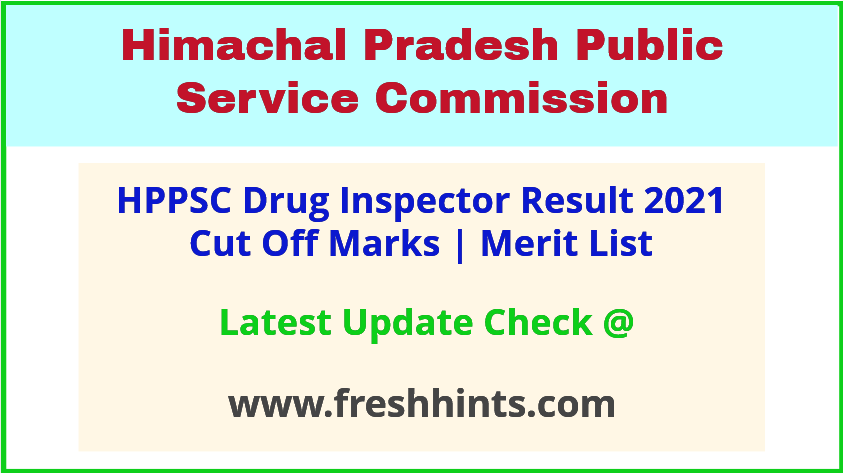 HP Drug Inspector Selection List 2021