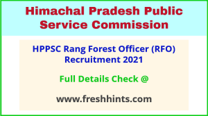 HP Range Forest Officer Vacancy 2021