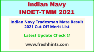 Indian Navy TMM Selection List 2021
