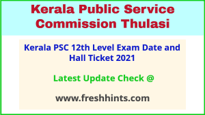 KPSC Plus Two Level Exam Admit Card 2021