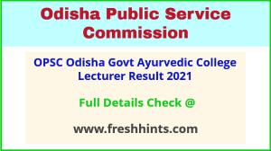 Odisha Lecturer Selection List 2021