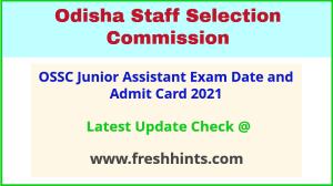Odisha SSC JA Exam Hall Ticket 2021