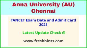 Tamil Nadu Common Entrance Test Hall Ticket 2021