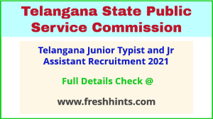 Telangana junior typist and Jr assistant recruitment 2021