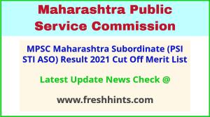 Maharashtra Subordinate Services Exam Selection List 2021