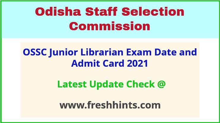 Odisha Librarian Exam Admit Card 2021