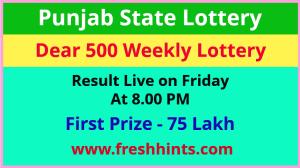 Punjab State Lotteries Dear 500 Weekly Winner List 2021