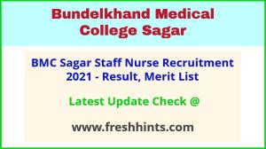 Sagar Medical College Staff Nurse Bharti 2021