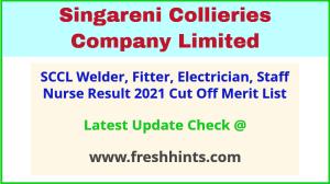Singareni Fitter Welder Staff Nurse Selection List 2021