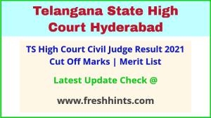 Telangana High Court Civil Judge Selection List 2021