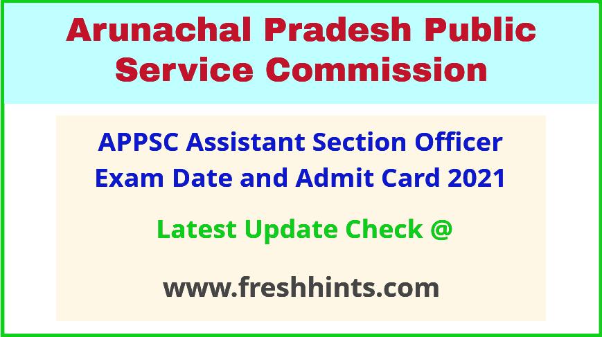 Arunachal Pradesh PSC ASO Admit Card 2021