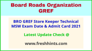 General Reserve Engineer Force Exam Hall Ticket 2021
