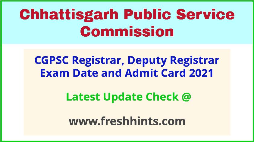 CG Assistant Registrar Exam Hall Ticket 2021