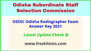 Odisha Radiographer Answer Sheet 2021