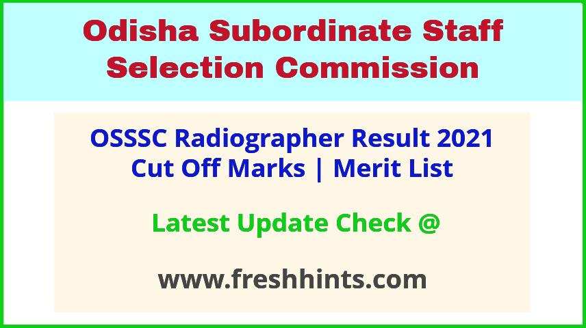 Odisha Radiographer Selection List 2021