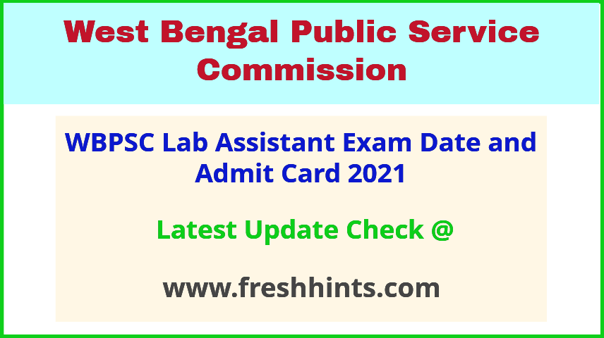West Bengal Laboratory Assistant Exam Hall Ticket 2021