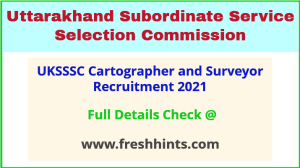 UKSSSC Cartographer and Surveyor Recruitment 2021