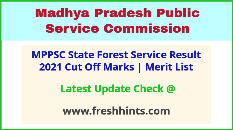 MP State Forest Service Selection List 2021
