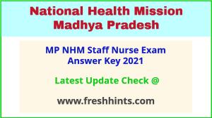 NHM MP Staff Nurse Answer Sheet 2021