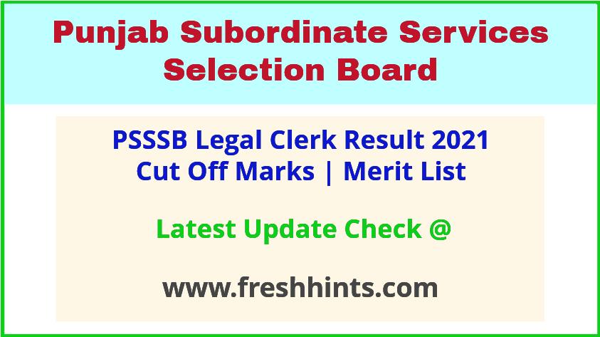 SSSB Punjab Clerk Selection List 2021