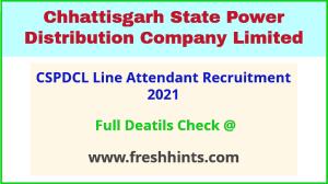 CSPHCL line attendant recruitment 2021