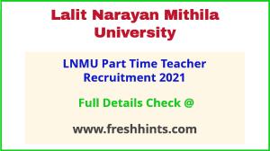 LNMU PTT teacher recruitment 2021