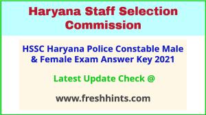 HSSC Constable GD Exam Answer Sheet 2021