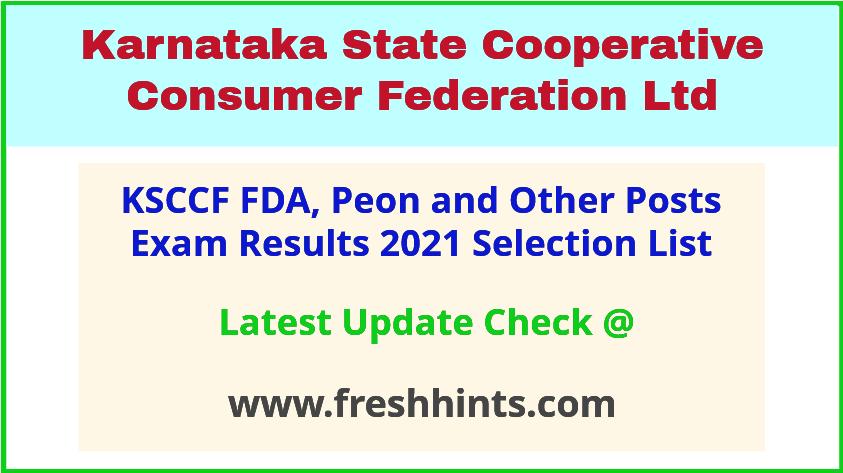 KSCCF FDA Peon Merit List 2021