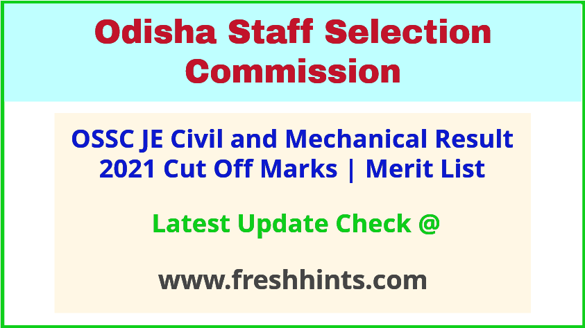 Odisha Junior Engineer Selection List 2021