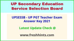 UPSESSB PGT Teacher Answer Sheet 2021