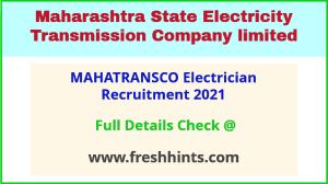 MAHATRANSCO recruitment 2021