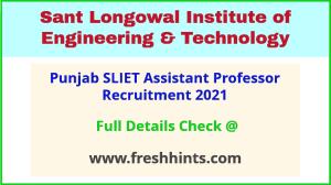 Punjab SLIET PA recruitment 2021