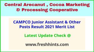CAMPCO Junior Grade Selection List 2021
