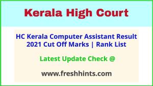 HC Kerala Computer Assistant Selection List 2021