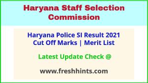 HR Police SI Selection List 2021