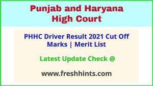 PHHC Driver Selection List 2021