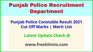 PP Constable Selection List 2021