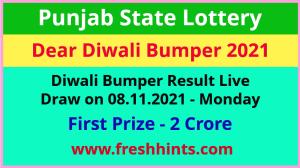 Punjab Lottery Diwali Bumper Winner List 2021