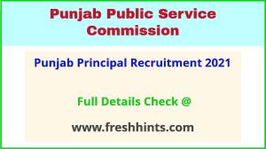 punjab principal recruitment 2021