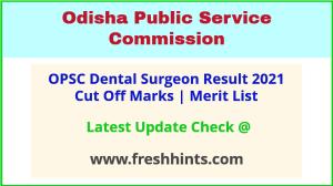 Odisha Dental Surgeon Selection List 2021